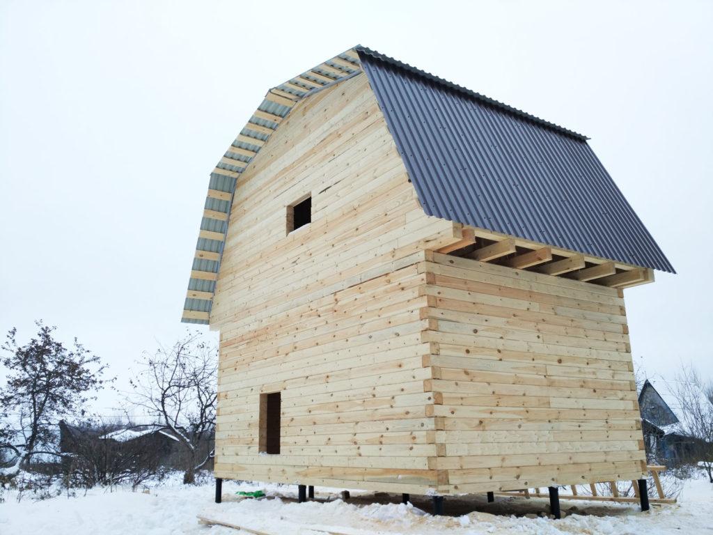 Строительство дачных домов из профилированного бруса от производителя