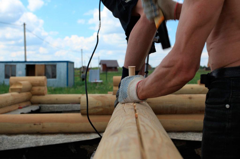 Нагеля березовые для строительства домов из бруса и оцилиндровки