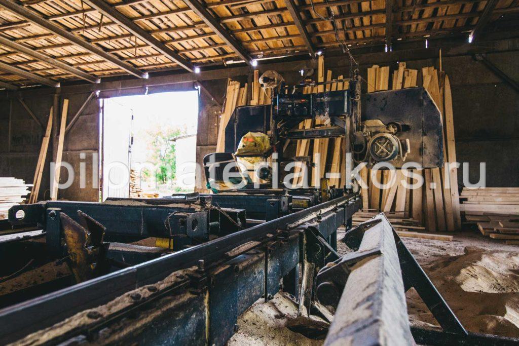 Производство обрезного пиломатериала в Костроме - пилорама
